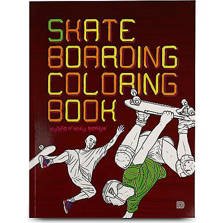 BOOKSHOP Skateboarding Colouring Book by Magnus Fredriksen