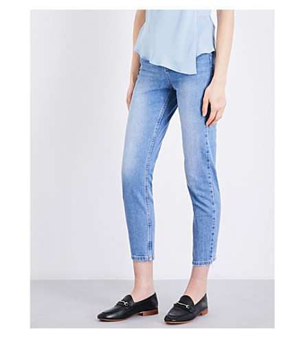 TOPSHOP Orson slim high-rise jeans (Mid+stone