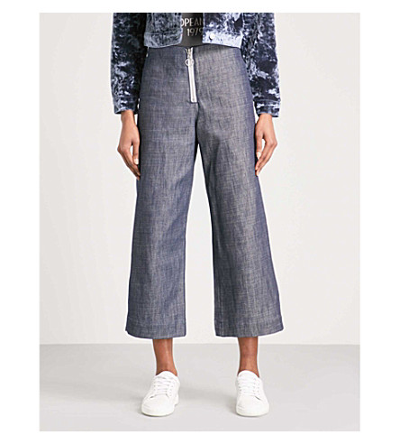 TOPSHOP Tailored cropped high-rise jeans (Indigo