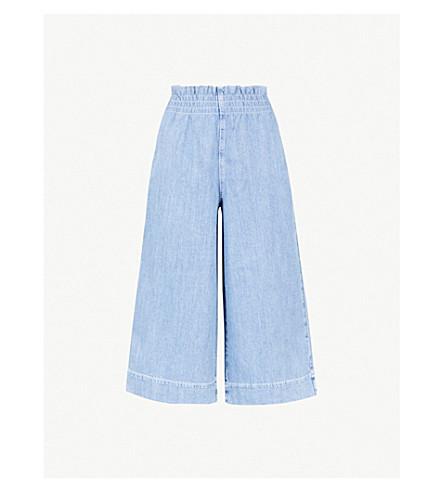 TOPSHOP High-rise wide-leg denim jeans (Bleach+denim