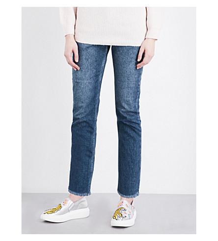 TOPSHOP High-rise straight-leg jeans (Dark+stone