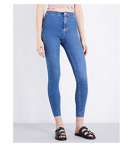 TOPSHOP Joni high-rise super-skinny jeans (Mid+stone