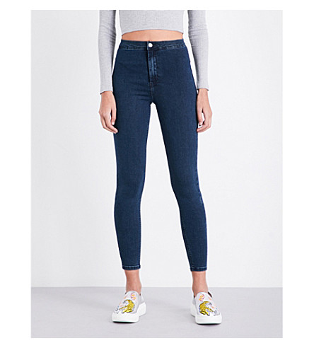 TOPSHOP Joni high-rise skinny stretch-denim jeans (Indigo