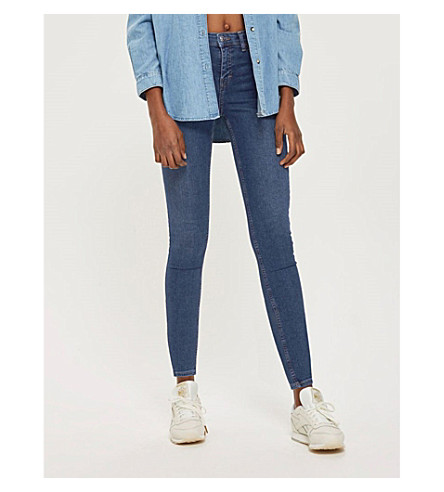 TOPSHOP Jamie skinny high-rise jeans Indigo Really Cheap Price Sale Official Site mAFRxg2e6r