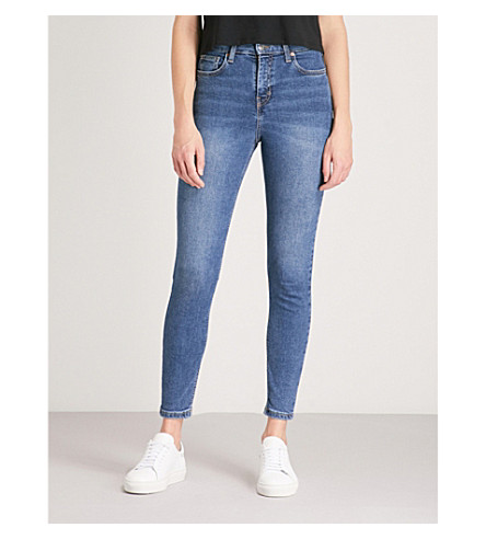 TOPSHOP Jamie skinny high-rise jeans (Indigo