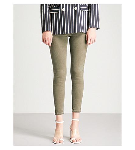 TOPSHOP Jamie high-rise skinny jeans (Khaki