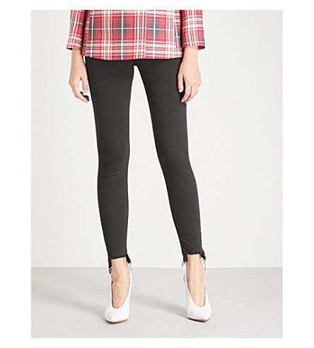 TOPSHOP High-rise skinny stretch-denim jeans (Black