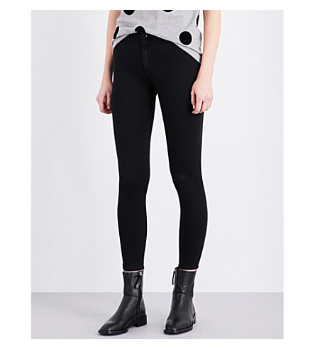 TOPSHOP Leigh skinny mid-rise jeans (Black
