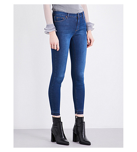 TOPSHOP Leigh skinny mid-rise jeans (Indigo