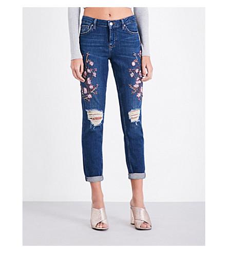 TOPSHOP Blossom skinny high-rise jeans (Indigo