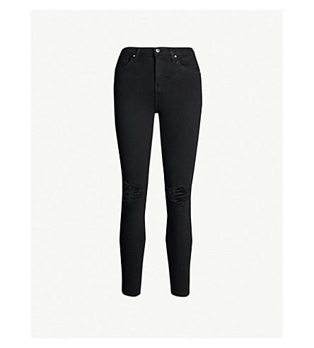 TOPSHOP Jamie skinny high-rise jeans (Black