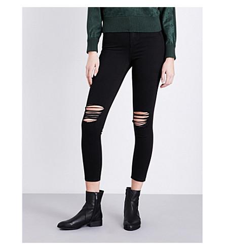 TOPSHOP Jamie skinny mid-rise jeans (Black