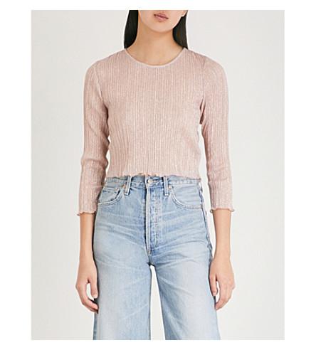 metalizada camiseta rosa TOPSHOP tejida Summer S4Tx5t