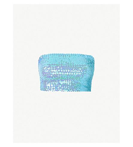 TOPSHOP Sequin embellished bandeau (Blue
