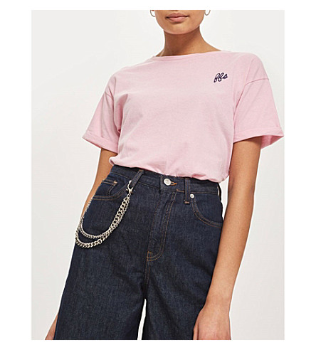 TOPSHOP For Fakes Sake cotton T-shirt (Pink