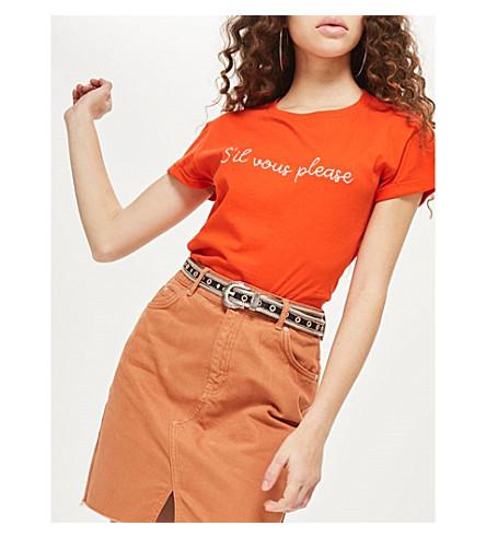 TOPSHOP Sil Vous Please cotton T-shirt (Red