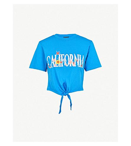 TOPSHOP加利福尼亚棉布球衣 t恤衫 (蓝色