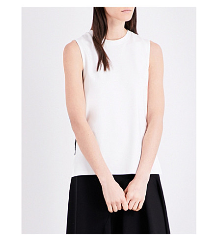 TOPSHOP Satin Tabbard jersey top (White