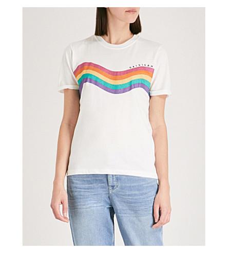 TOPSHOP Daydreamer jersey T-shirt (White