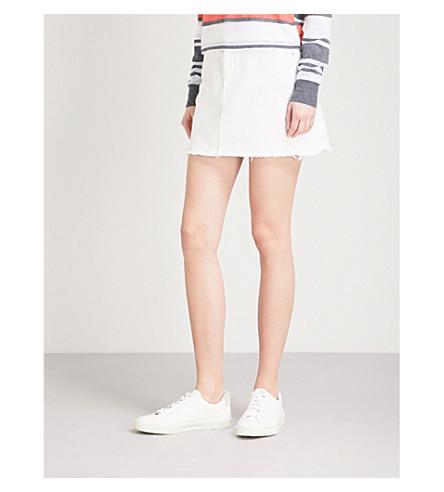 TOPSHOP High-rise denim skirt (White