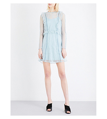 TOPSHOP Dobby lace dress (Duck+egg