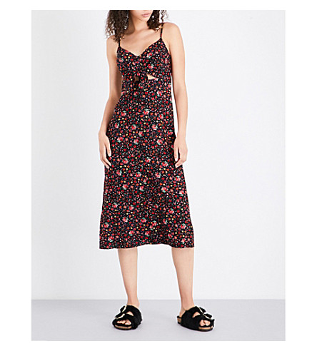 TOPSHOP Molly woven midi dress (Black