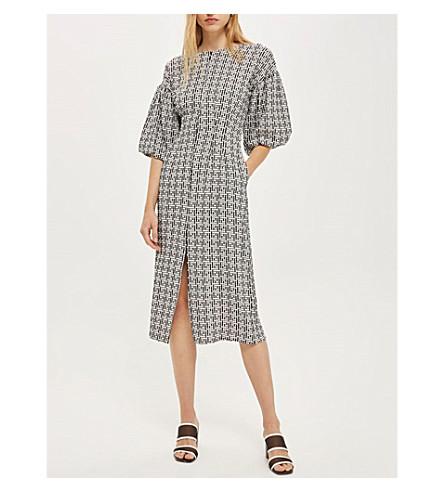 TOPSHOP Geometric-print woven dress