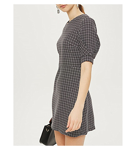 TOPSHOP Checked woven mini dress