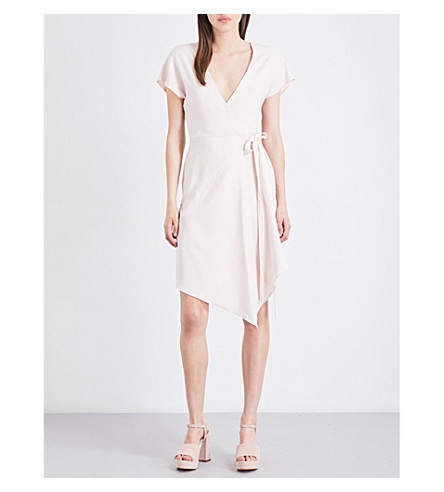TOPSHOP Asymmetric crepe dress (Blush