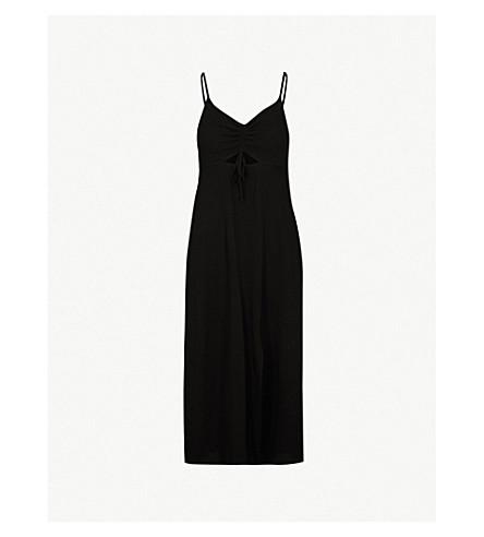 TOPSHOP Molly ruched-front slip dress (Black