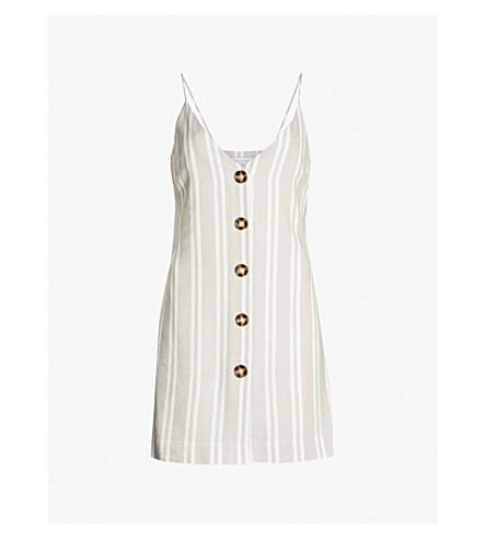 TOPSHOP Striped mini dress (Stone