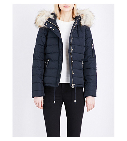 TOPSHOP Woody quilted jacket (Navy+blue