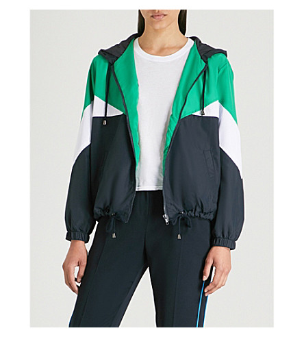TOPSHOP Abbie block-panel shell jacket Green Cheap Price In UK Nicekicks Cheap Low Cost Cheap Sale Visit New Very Cheap nGKAPlQv5t