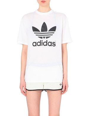 TOPSHOP FOR ADIDAS ORIGINALS Superstar jersey t-shirt