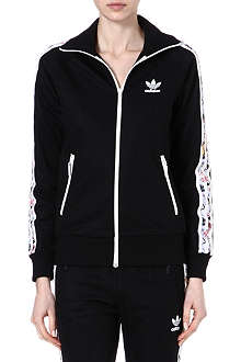 TOPSHOP X ADIDAS ORIGINALS Graphic firebird printed tracksuit top