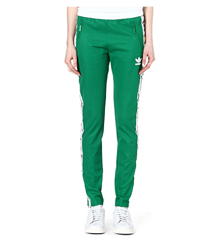 TOPSHOP X ADIDAS ORIGINALS Slim fit jogging bottoms (Green