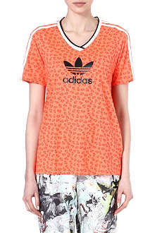 TOPSHOP X ADIDAS ORIGINALS V-neck football t-shirt
