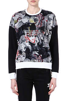 TOPSHOP X ADIDAS ORIGINALS Urban printed sweatshirt