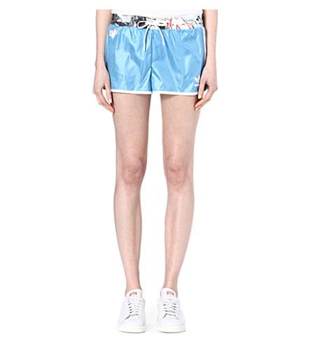 TOPSHOP X ADIDAS ORIGINALS Contrast waistband shorts (Blue
