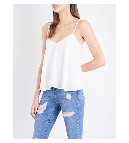 TOPSHOP Rouleau crepe camisole (Ivory