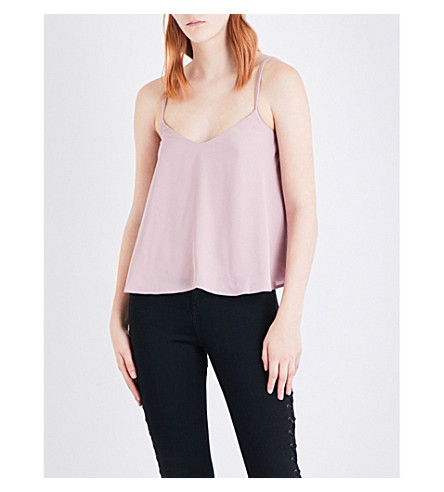 TOPSHOP Rouleau crepe camisole (Rose