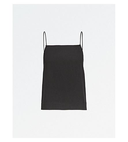TOPSHOP Square-neck crepe cami top (Black