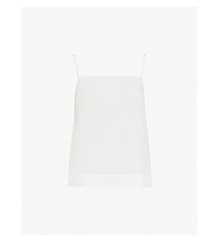 TOPSHOP Square-neck crepe cami top (Ivory