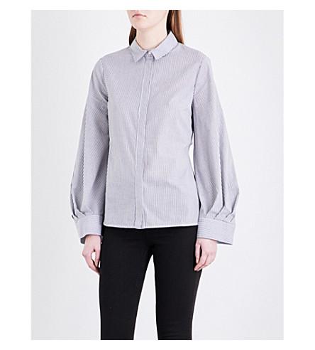 TOPSHOP Stripe-print cotton shirt