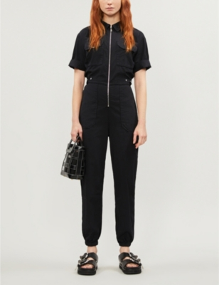 Cody relaxed-fit cotton-twill jumpsuit