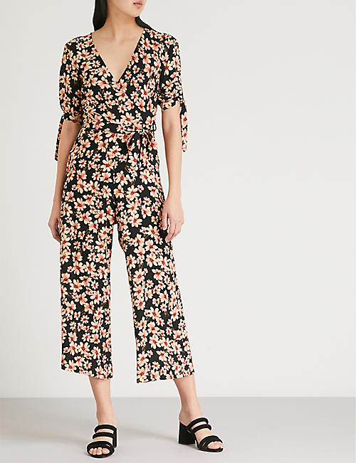 TOPSHOP Amber Daisy woven jumpsuit