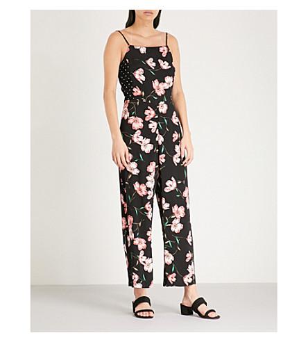 TOPSHOP Floral-print crepe jumpsuit (Multi