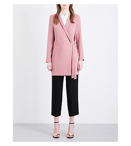 TOPSHOP Tie-side blazer crepe dress (Rose