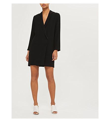 TOPSHOP Bow-back crepe blazer dress (Black