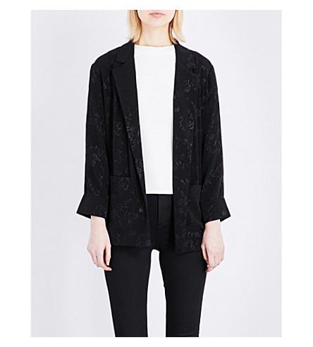 TOPSHOP Suzie floral jacquard jacket (Black